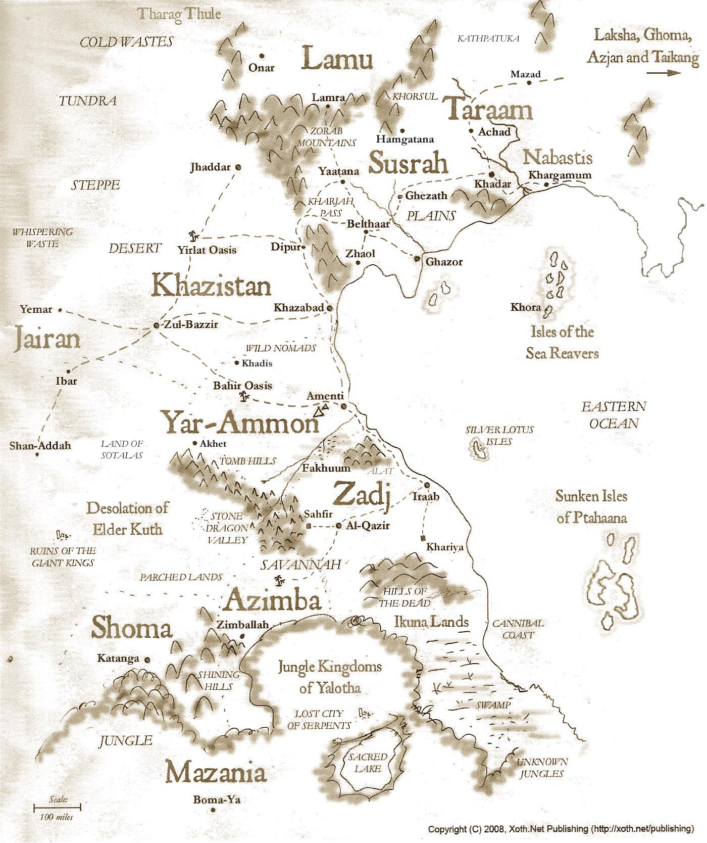 The World of Xoth map